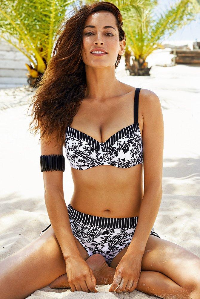 Lidea - Bikini-Set Flirty Arabesque - schwarz-weiß