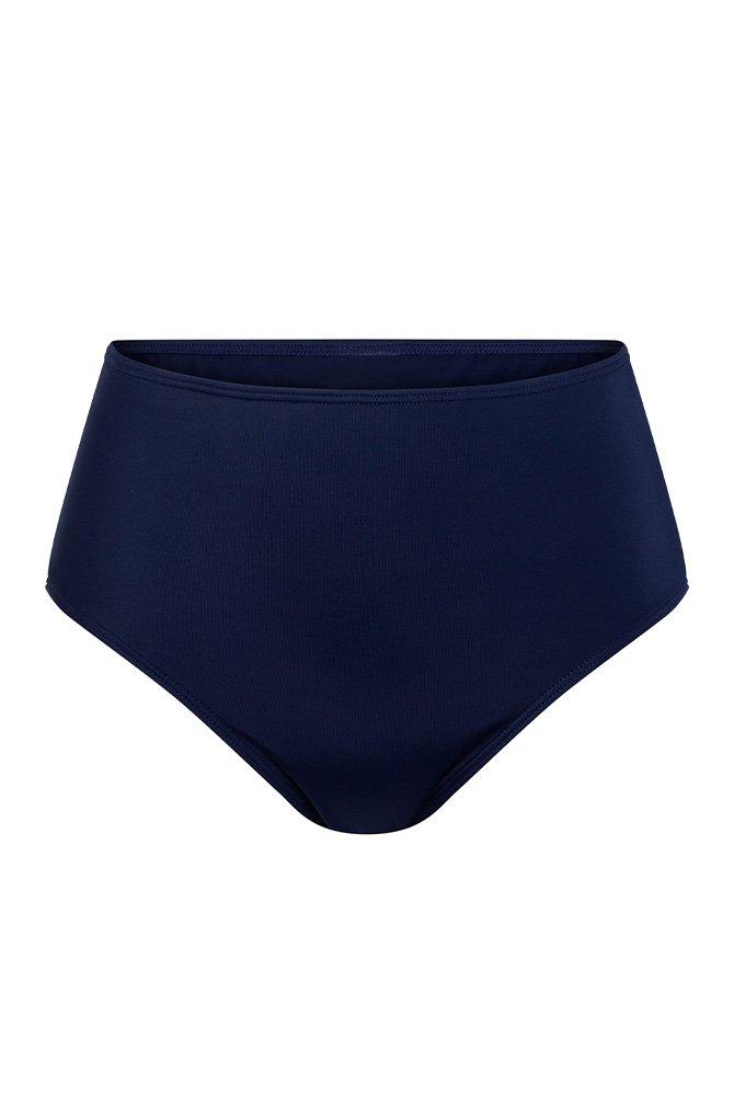Amoena-Bikini-Hose-Capri-dunkel blau/bunt