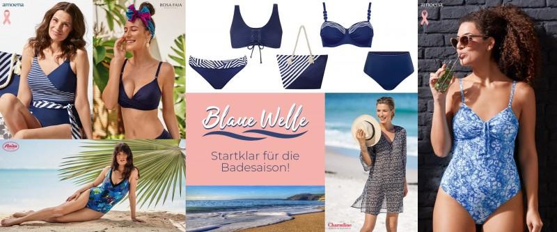 Blaue Welle Einkaufswelt