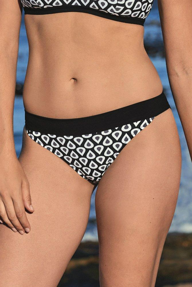 Anita - Bikini-Hose Alix Bottom - Schwarz-Weiß