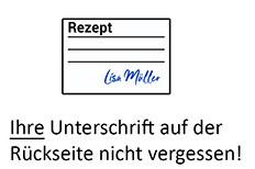 Rezept-Unterschrift
