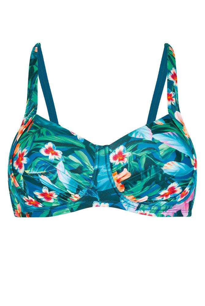 Prothesen-Bikini-Oberteil Mauritius-petrol-bunt