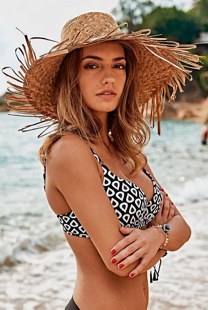 Milou Top Bikini-Oberteil schwarz-weiß