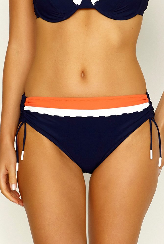 Lidea - Bikini-Hose Orange Warp - blau