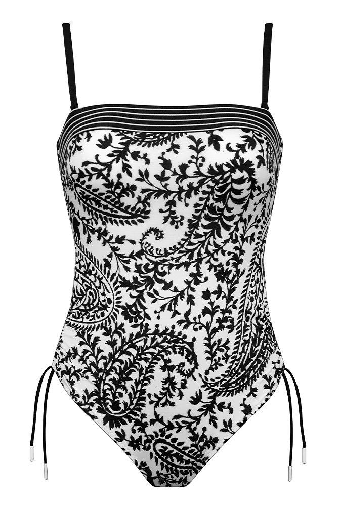 Lidea - Badeanzug Flirty Arabesque - Schwarz-Weiß