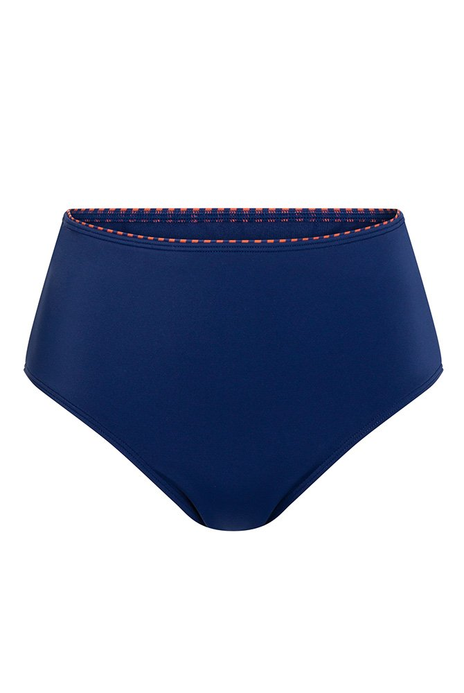 Amoena-Bikini-Hose-High Waist-Alabama-marine/rostrot